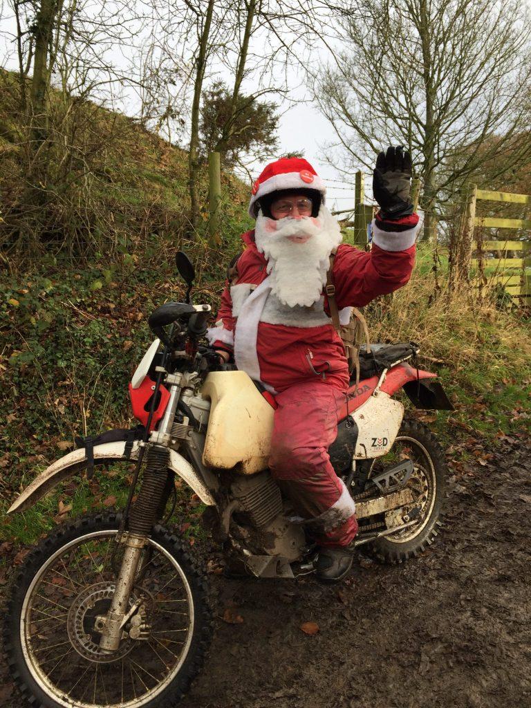 Santa Rides An XR400