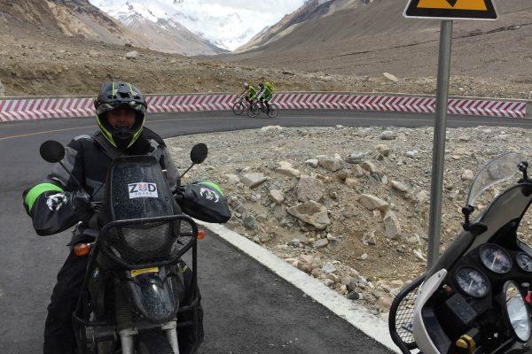 Rental 650GS at Everest